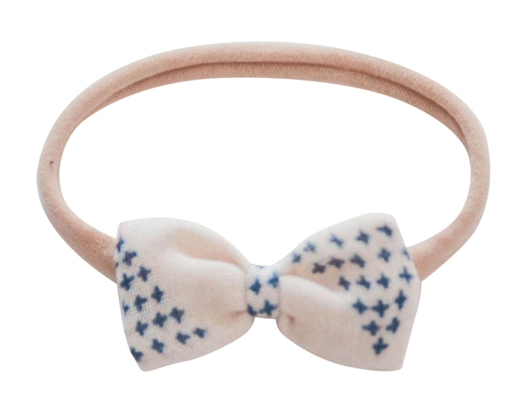 Baby Bow Headband - Cream Triangle
