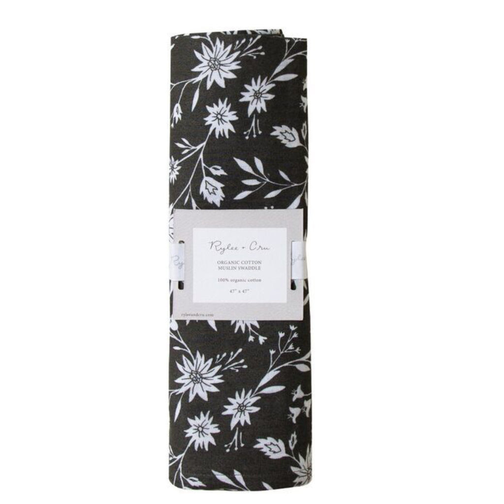 Midnight Floral Swaddle