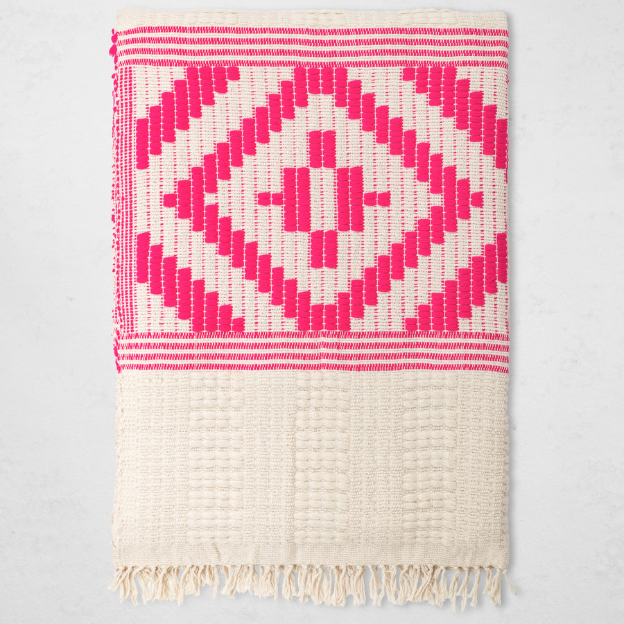 Abren Throw - Hot Pink