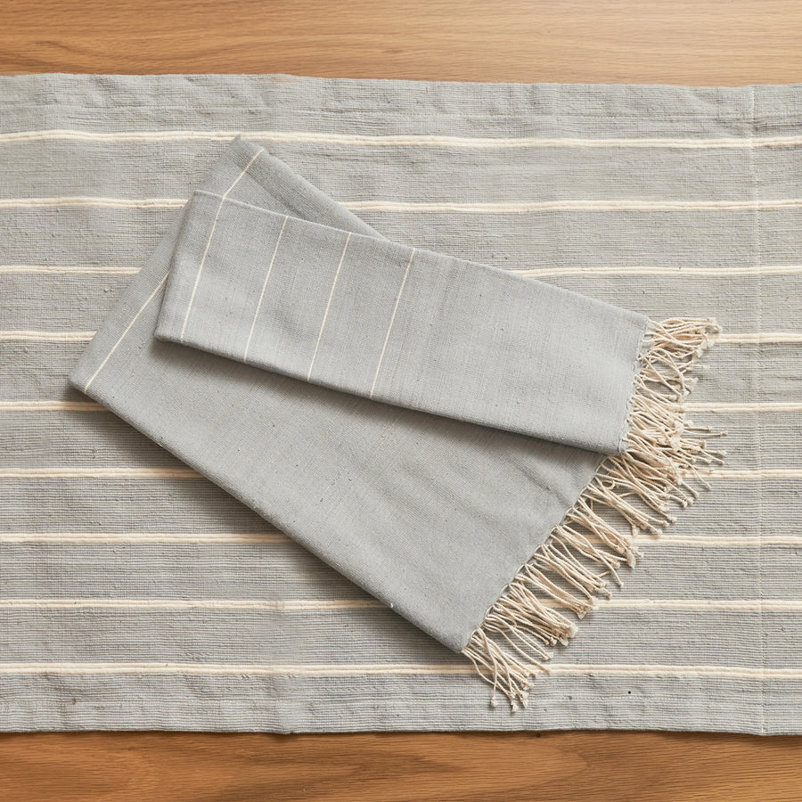 Melkam Hand Towel - Light Gray