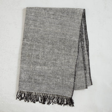 Silk Scarf - Black / White