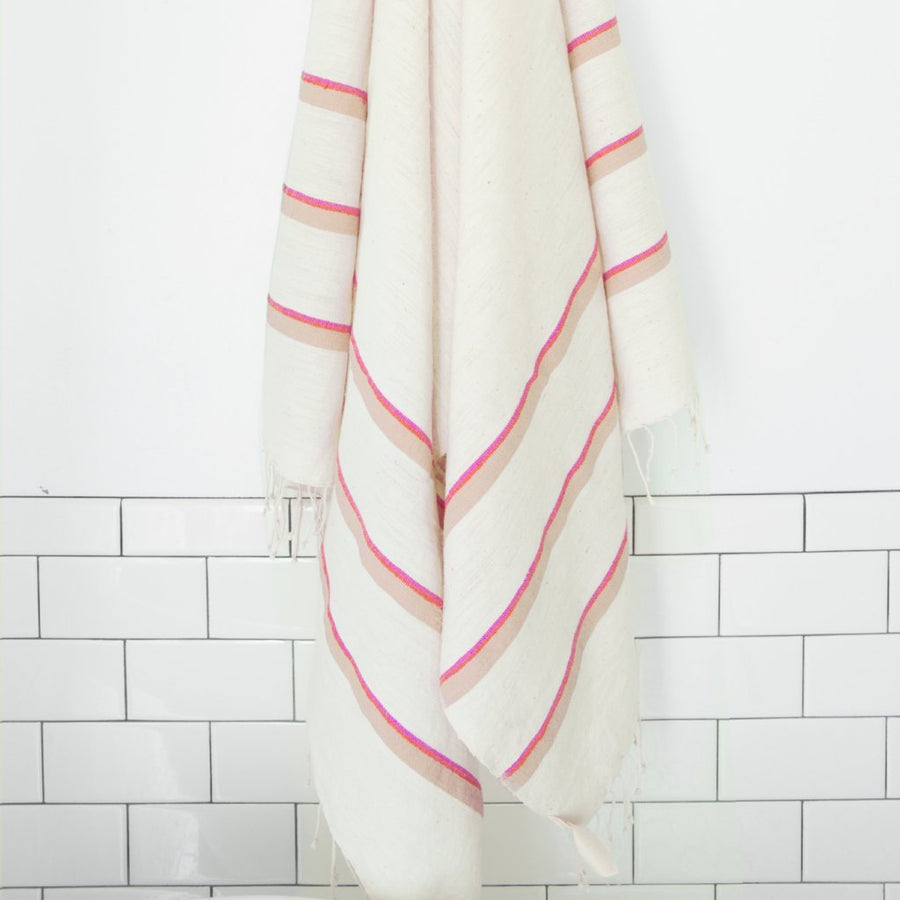 Omo Bath Sheet - Cerise