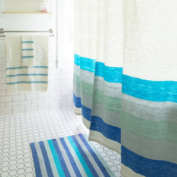 Omo Shower Curtain - Azure