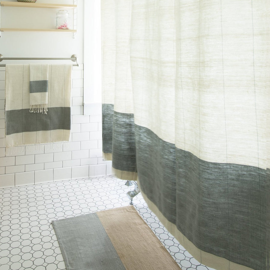 Karo Shower Curtain - Sable