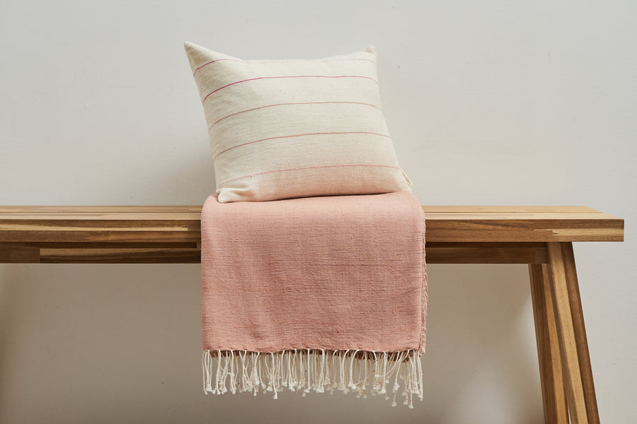 Pillow + Throw Combo - Dusty Rose