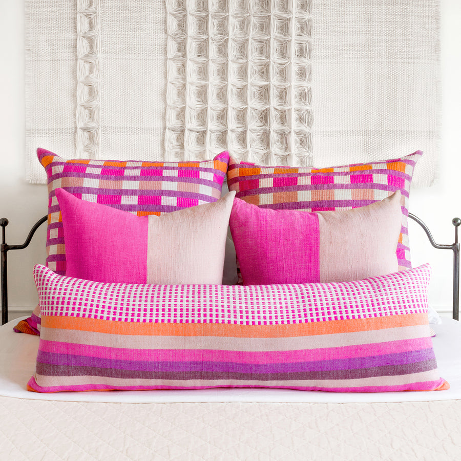 Coordinated Pillows - Cerise