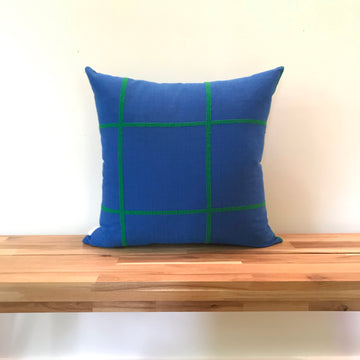 Argo Pillow - Cerulean - Sample