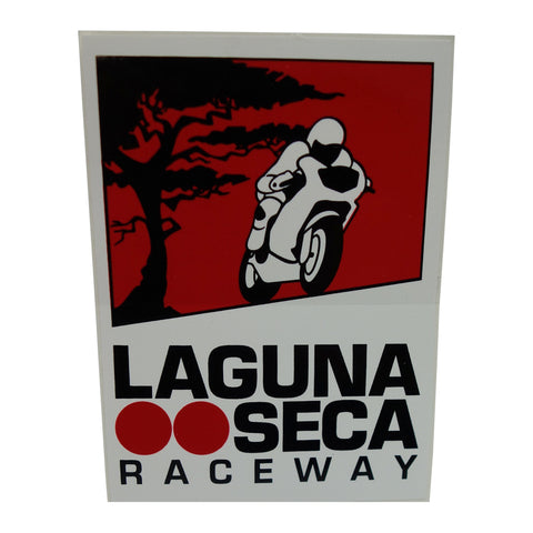 Vintage Laguna Seca Bike Decal