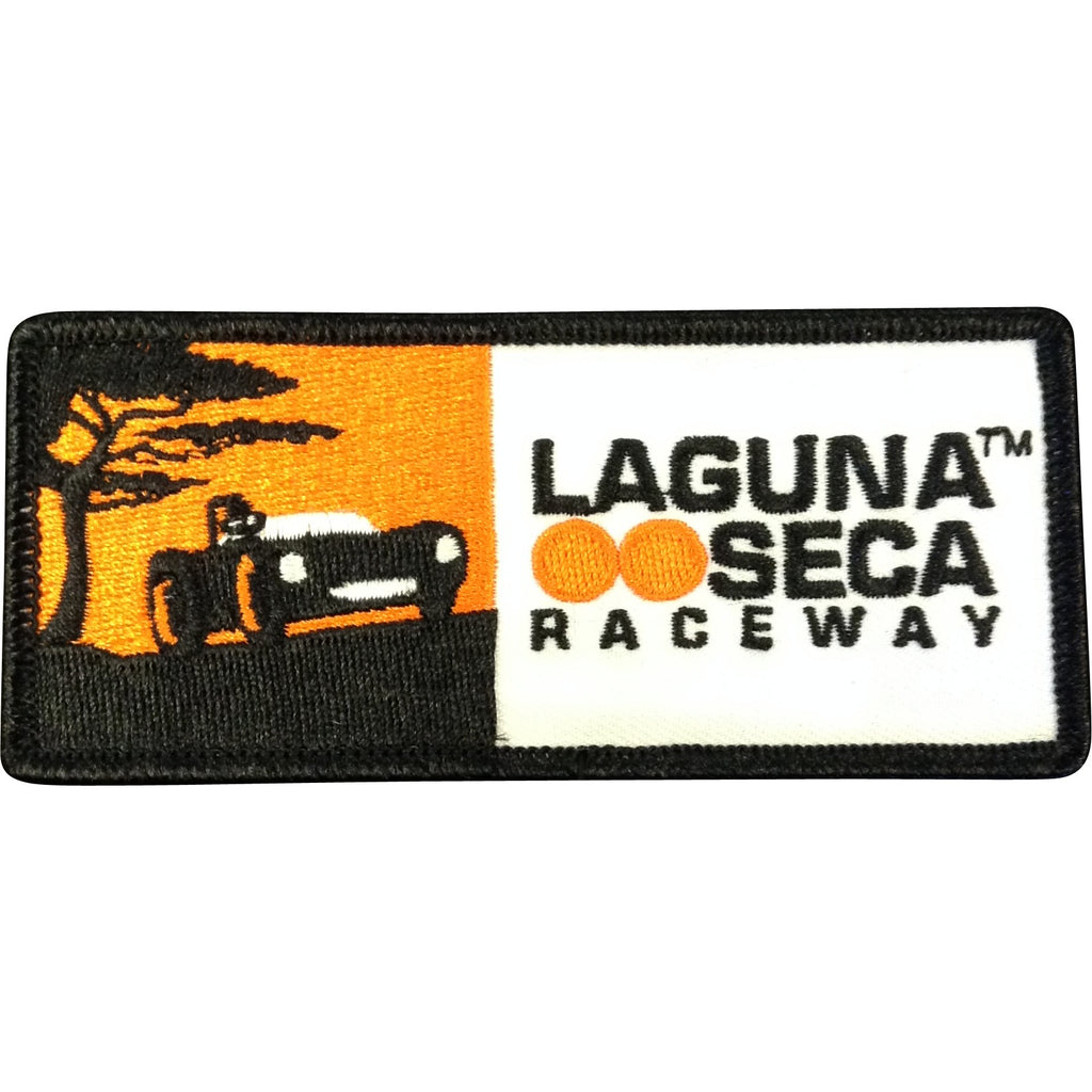 Vintage Laguna Seca Car Patch Horizontal
