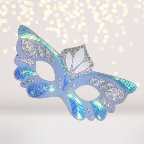 Costume - Icy Butterfly, Snow Princess Felt Costume Kids Face Mask