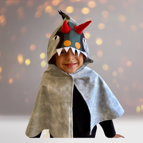 Dragon Dinosaur Monster Toddler Cape Costume, Kids Dino Cape Costume