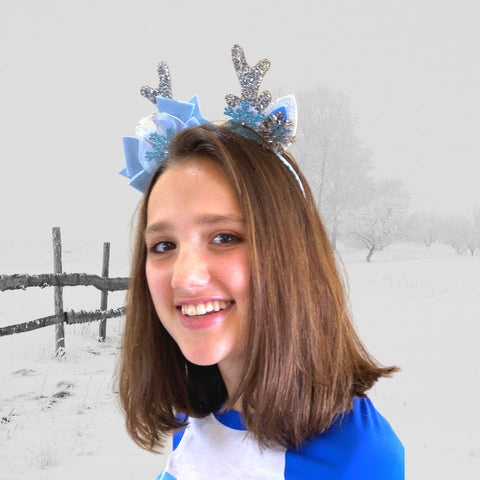 Girls Frozen Snowflake Antler Headband