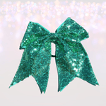 7 inch Sequin Cheer Bows, Girls Sequin Cheerleader Bow Pony - Chicky Chicky Bling Bling, LLC