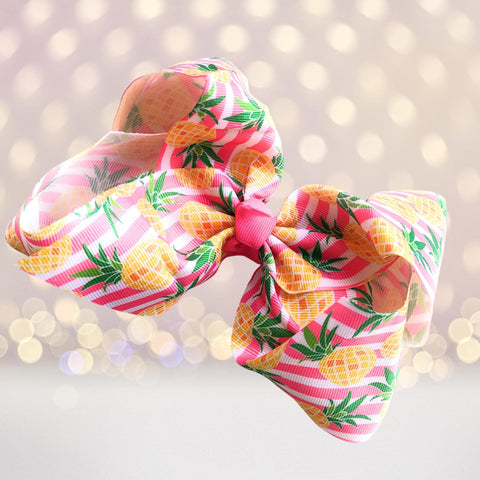 Hair Bow - Fun Fruit Hair Bows,  Pineapple Hair Bow, Strawberry Hair Bow, Watermelon Hair Bow