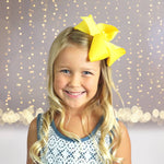 Girls Large Chunky Hair bow, Girls Basic 6 inch Hair Bow - Chicky Chicky Bling Bling, LLC