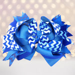Girls Layered Boutique Hair Bows - Chicky Chicky Bling Bling, LLC
