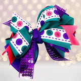 Hair Bow - Large Sequin Boutique Hair Bow