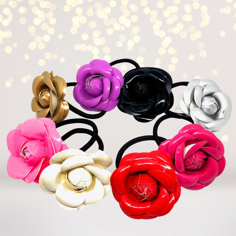 Hairband - Shiny Flower Hairband Pony Tail