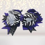 Halloween Hair Bows,  Orange Black And Purple Halloween Hair Bows