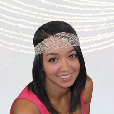 Bohemian Antique Lace Headband - Chicky Chicky Bling Bling, LLC