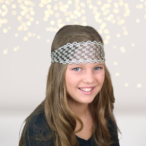 Bohemian Wide Lace Headband - Chicky Chicky Bling Bling, LLC