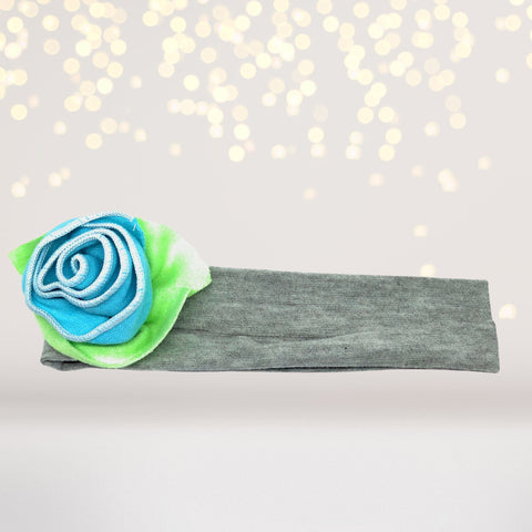 Girls Soft Cotton Rosebud Headband, Soft Rose Headband For Girls - Chicky Chicky Bling Bling, LLC