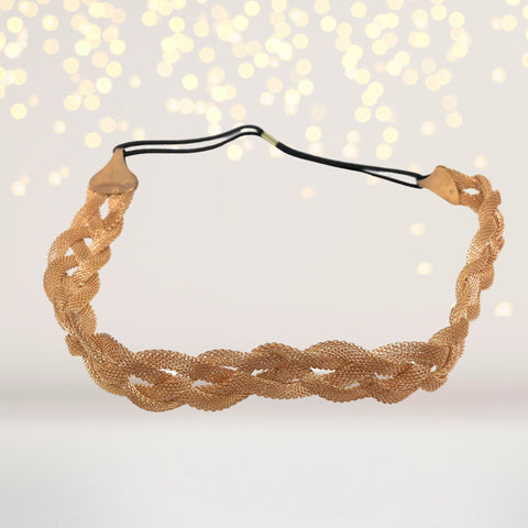 Headband - Gold Braided Headband, Gold Braid Halo