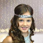 Headband - Metallic Flowers Bohemian Wedding Halo Headband