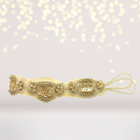 Headband - Scalloped Gold Beaded Headband
