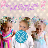 Headband - White Holographic Birthday Party Pom Pom Headband