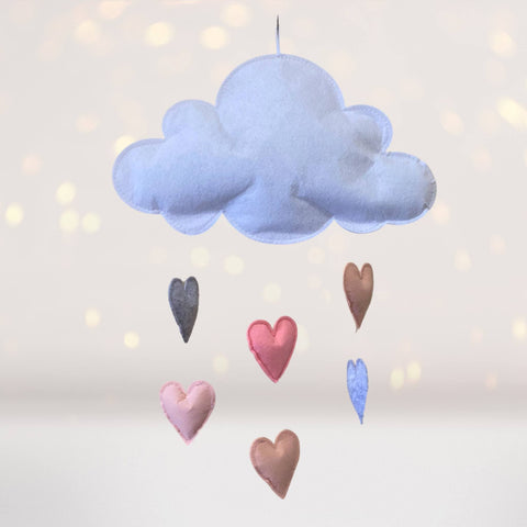 Home & Living - Cloud And Hearts Wall Hanging Or Mobile