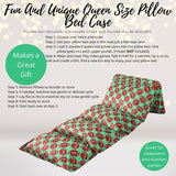 Home & Living - Green Football Pillow Bed Case, Floor Lounger Holiday Gift