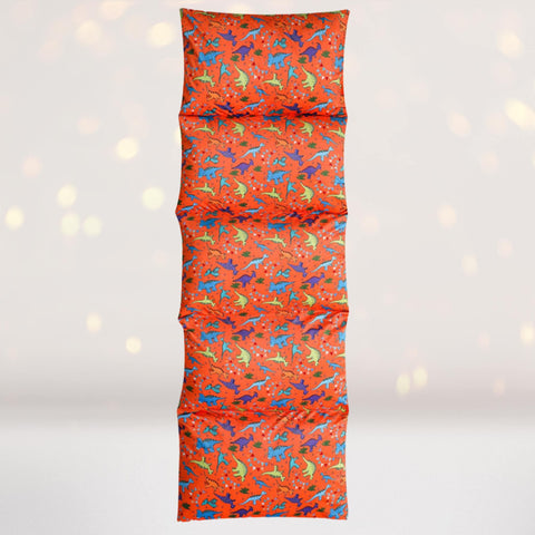 Home & Living - Orange Dinosaur Print Pillow Bed Floor Lounger