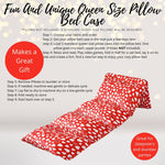 Home & Living - Queen Of Hearts Pillow Bed Case, Red Hearts Valentine's Floor Lounger Gift