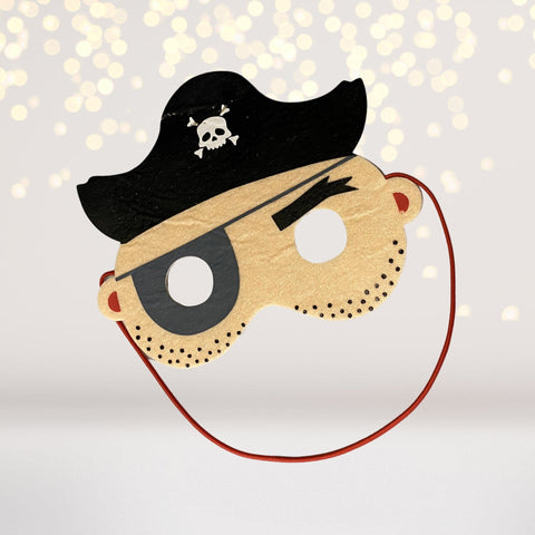 Mask - Pirate Mask, Felt Pirate Mask, Children's Pirate Captain Mask