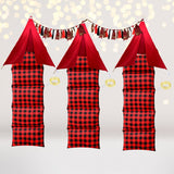 Party Bundle - Red And Black Buffalo Plaid Holiday Slumber Party Set