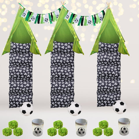 Party Bundle - Soccer Sleepover Party Set, Tee Pee Soccer Birthday Party Box