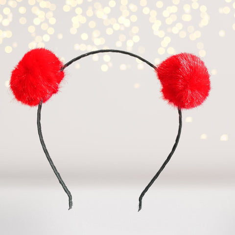 Small Fuzzy Furry Pom Pom Ears Headband