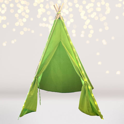 Tee Pee - Lime Green Tee Pee Tent Play House With Lights, Teepee For Kids