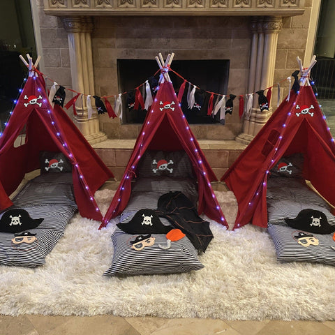 Tee Pee - Pirate Party, Pirate Slumber Party Set