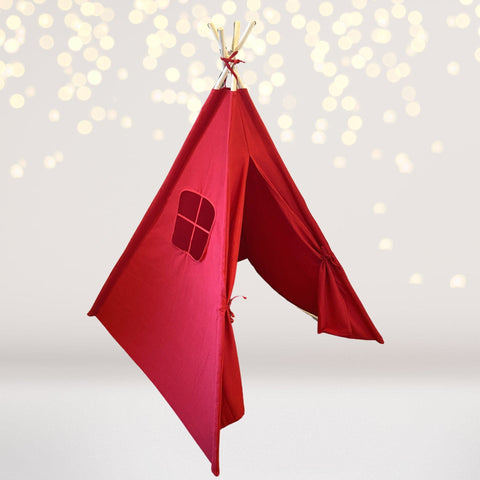 Tee Pee - Red Play Teepee, Fort, Tent