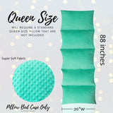 Turquoise Minky Dot Pillow Bed Case, Floor Longer