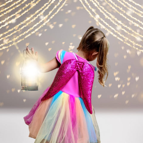 Wings - Girls Sequin Dress Up And Costume Wings
