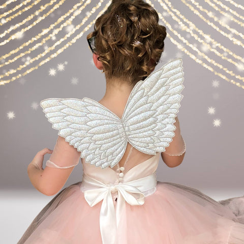 Wings - Little Girl Costume Glitter Fairy Wings, Angel, Unicorn Wings