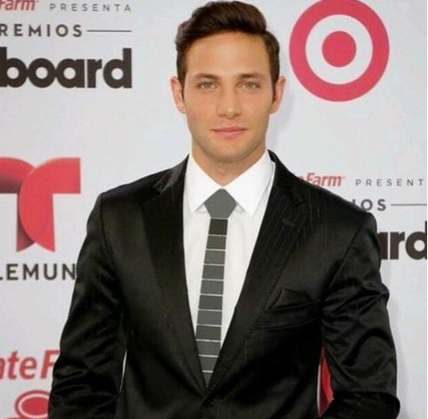 Actor Gabriel Coronel Wearing Hex Tie Lines