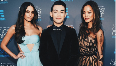 Ryan K Potter Rocking Hex Tie Chroma Bow Tie at the Academy Awards