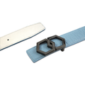 BLACK METALE Luxury Belt - Blanco/Cielo