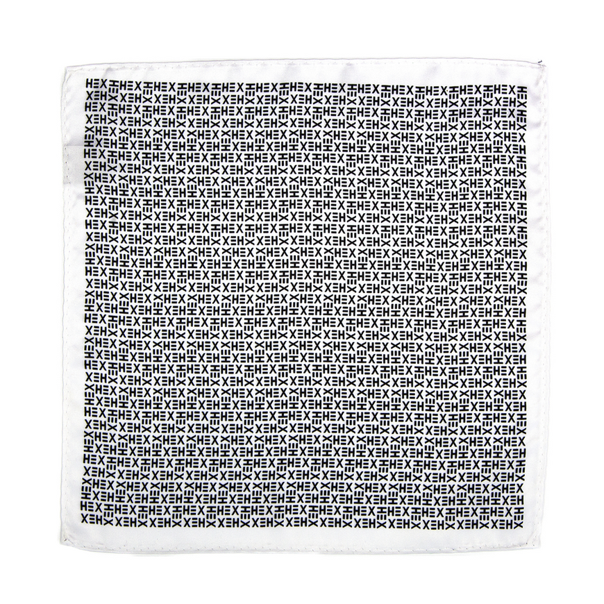 HEX TIE Pocket Square - WHITE