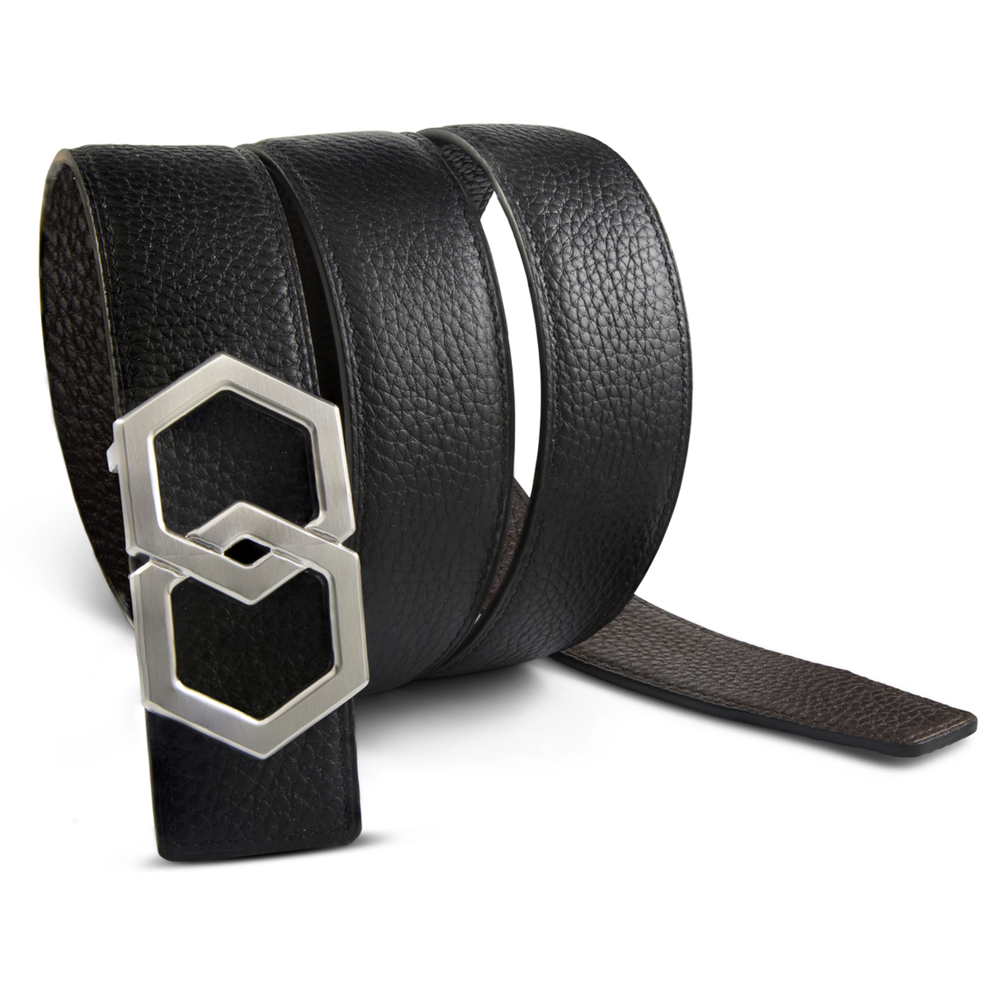 METALE BROSSÉ Luxury Belt - Dark Brown/Noche