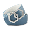 METALE Luxury Belt - Blanco/Cielo